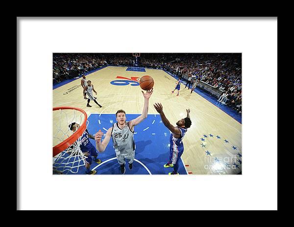 Nba Pro Basketball Framed Print featuring the photograph Jakob Poeltl by Jesse D. Garrabrant