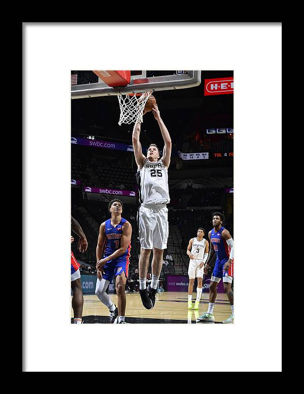Nba Pro Basketball Framed Print featuring the photograph Jakob Poeltl by Logan Riely