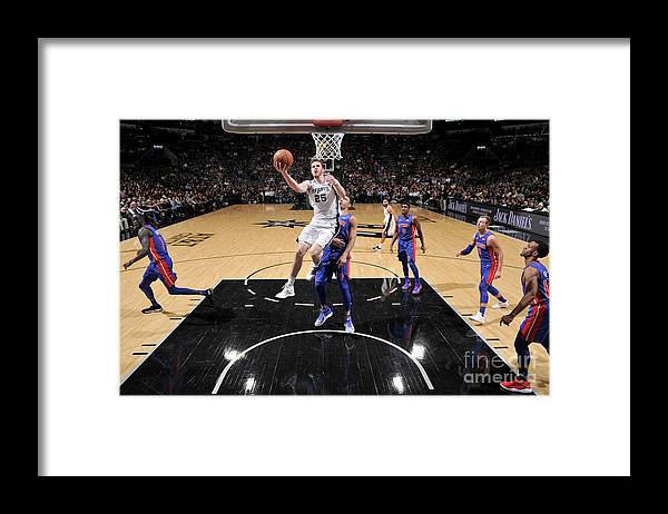 Nba Pro Basketball Framed Print featuring the photograph Jakob Poeltl by Mark Sobhani