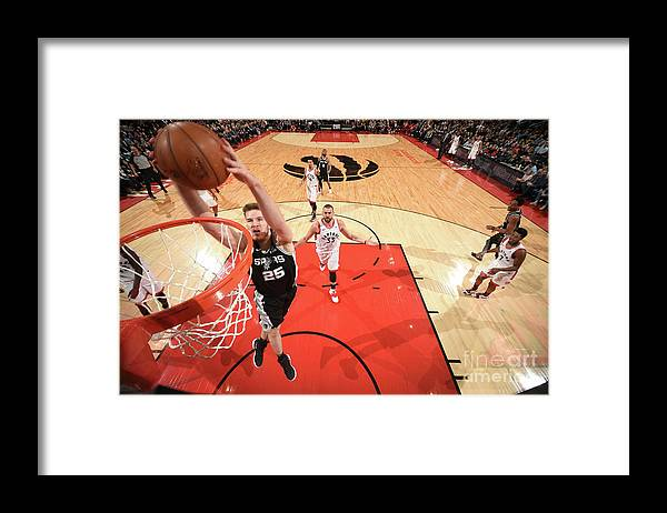 Nba Pro Basketball Framed Print featuring the photograph Jakob Poeltl by Ron Turenne