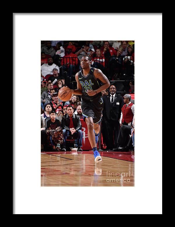 Nba Pro Basketball Framed Print featuring the photograph Jalen Jones by Bill Baptist