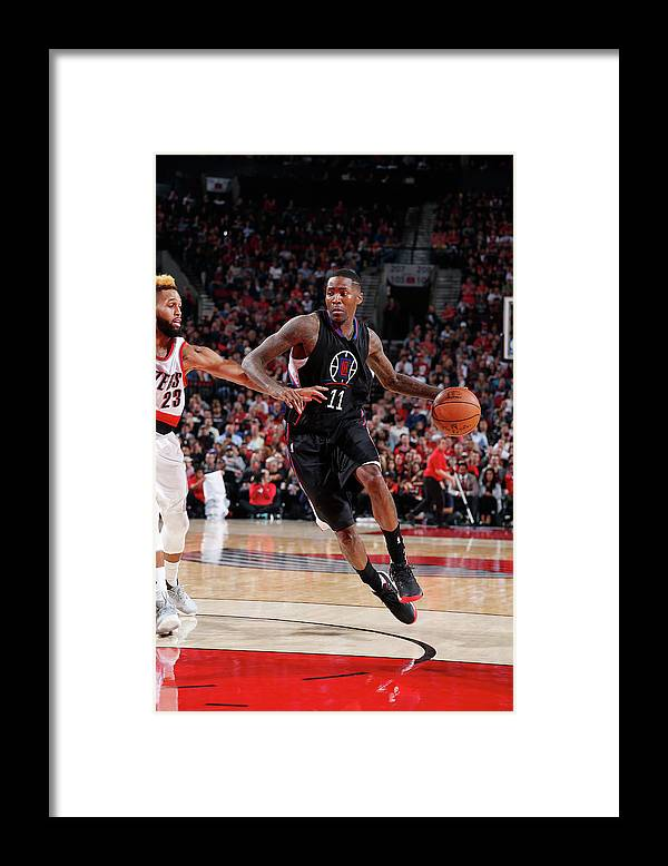 Nba Pro Basketball Framed Print featuring the photograph Jamal Crawford by Sam Forencich