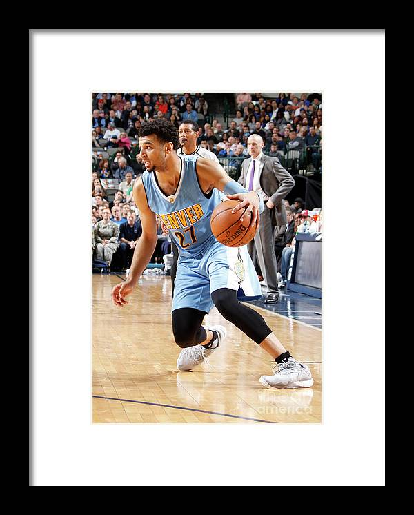 Nba Pro Basketball Framed Print featuring the photograph Jamal Murray by Danny Bollinger