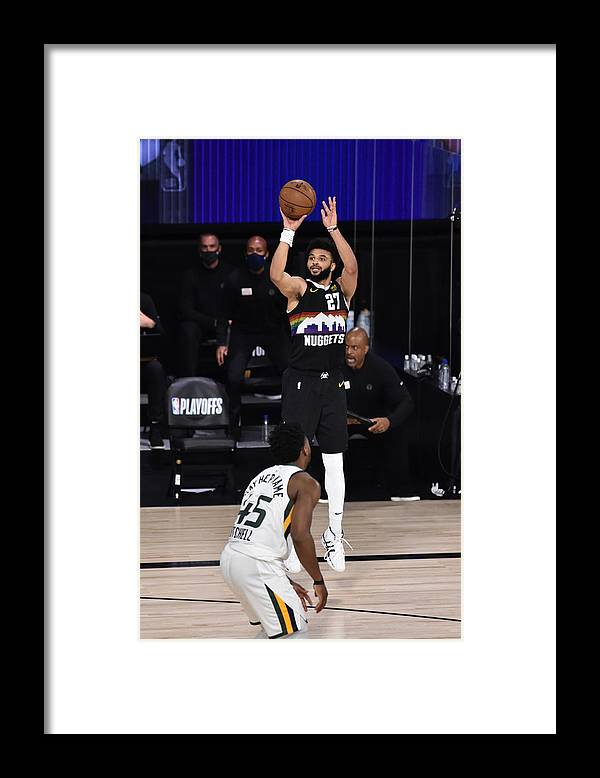 Playoffs Framed Print featuring the photograph Jamal Murray by David Dow