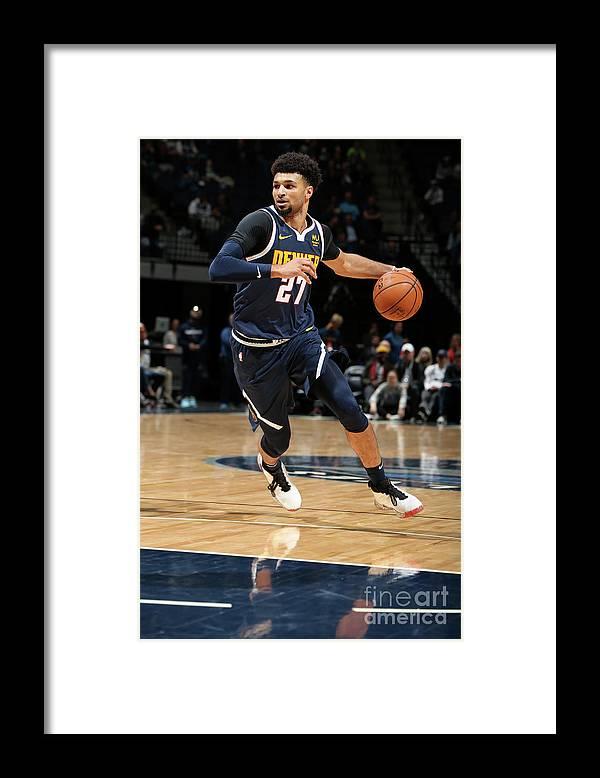 Nba Pro Basketball Framed Print featuring the photograph Jamal Murray by David Sherman