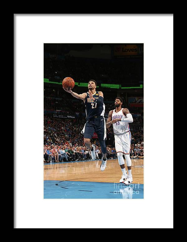 Basketball Framed Print featuring the photograph Jamal Murray by Layne Murdoch