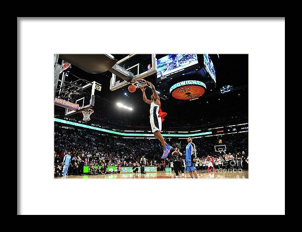 Nba Pro Basketball Framed Print featuring the photograph Jameer Nelson and Dwight Howard by Noah Graham