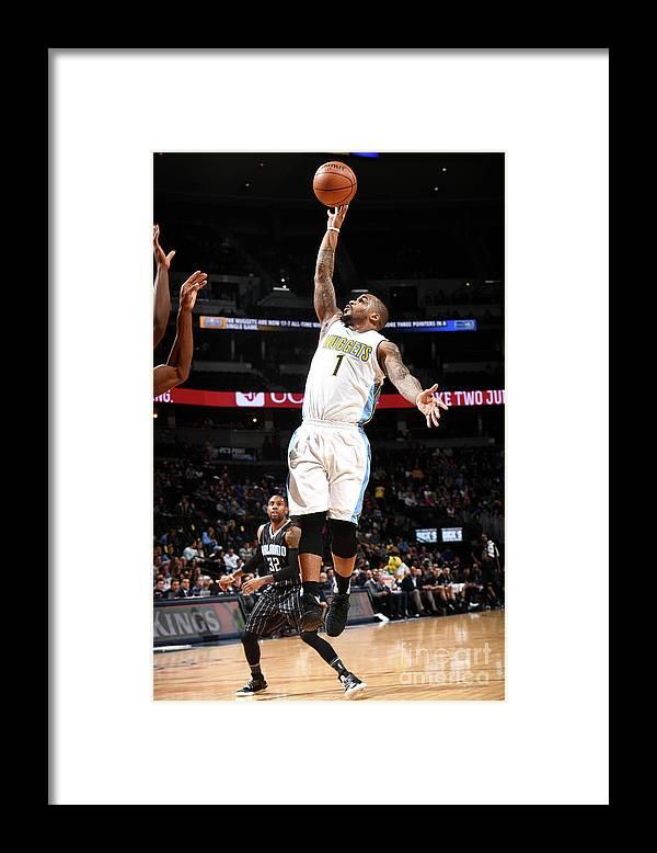 Nba Pro Basketball Framed Print featuring the photograph Jameer Nelson by Garrett Ellwood