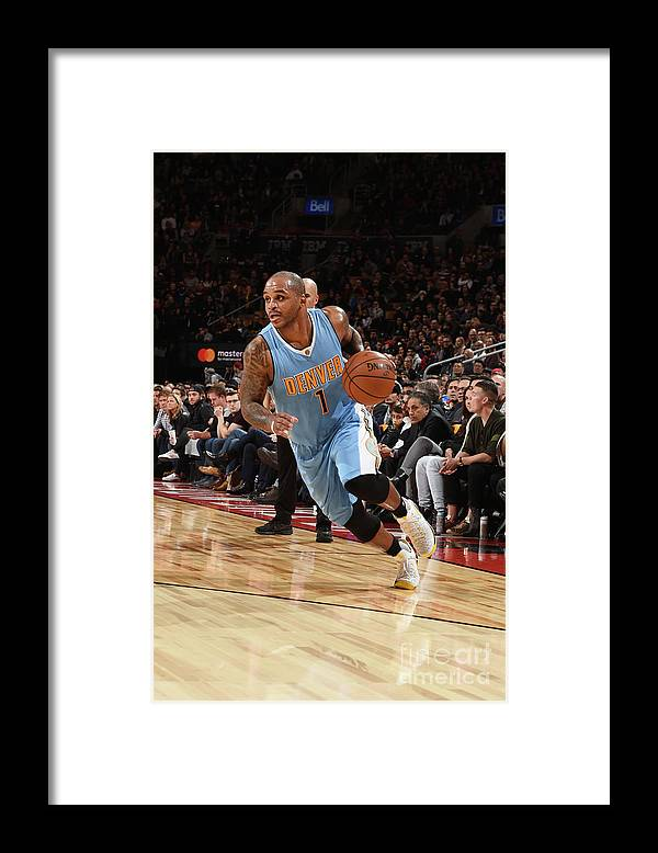 Nba Pro Basketball Framed Print featuring the photograph Jameer Nelson by Ron Turenne