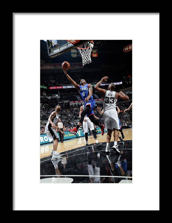 Nba Pro Basketball Framed Print featuring the photograph James Anderson by D. Clarke Evans