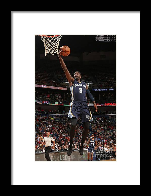 Smoothie King Center Framed Print featuring the photograph James Ennis by Layne Murdoch