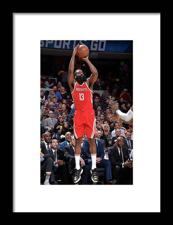 Nba Pro Basketball Framed Print featuring the photograph James Harden by David Liam Kyle