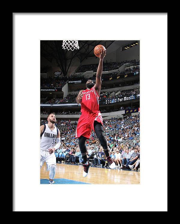 Nba Pro Basketball Framed Print featuring the photograph James Harden by Glenn James