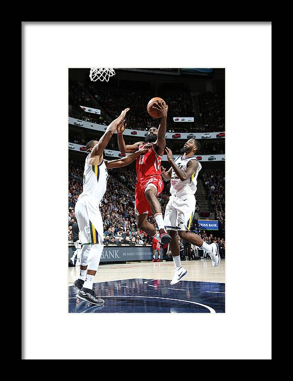 Nba Pro Basketball Framed Print featuring the photograph James Harden by Melissa Majchrzak