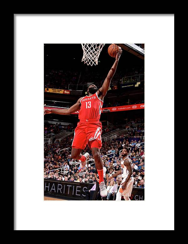 Nba Pro Basketball Framed Print featuring the photograph James Harden by Michael Gonzales