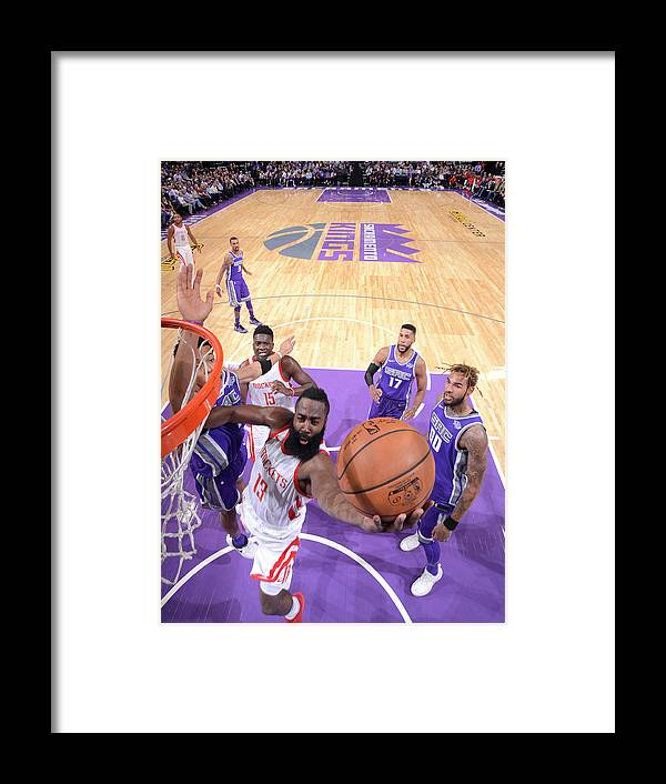 Nba Pro Basketball Framed Print featuring the photograph James Harden by Rocky Widner