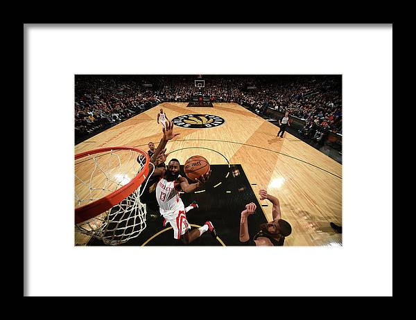 Nba Pro Basketball Framed Print featuring the photograph James Harden by Ron Turenne