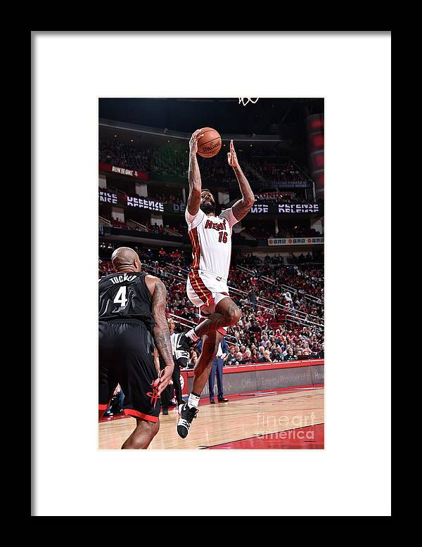 Nba Pro Basketball Framed Print featuring the photograph James Johnson by Bill Baptist