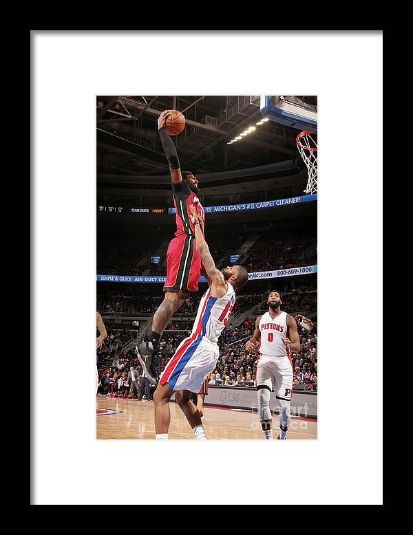 Nba Pro Basketball Framed Print featuring the photograph James Johnson by Brian Sevald