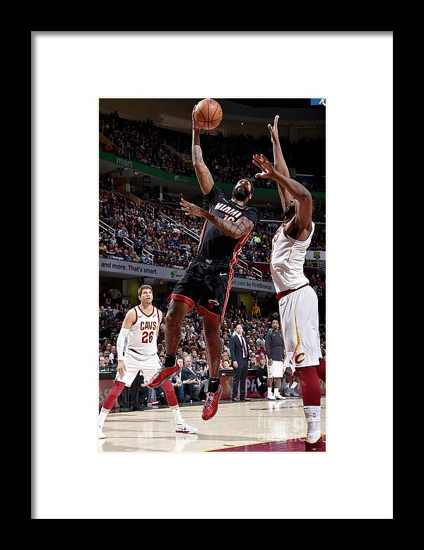 Nba Pro Basketball Framed Print featuring the photograph James Johnson by David Liam Kyle