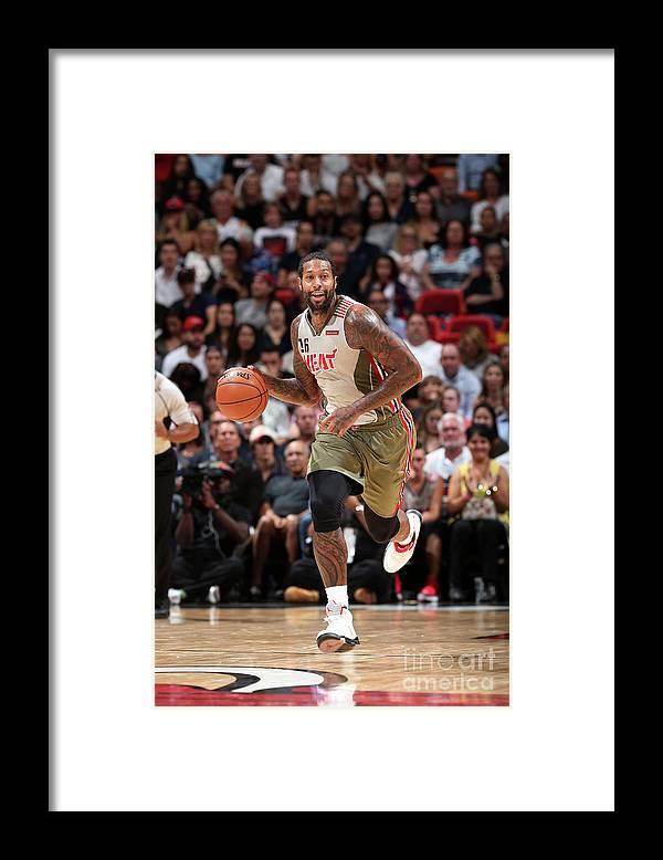 Nba Pro Basketball Framed Print featuring the photograph James Johnson by Joe Murphy