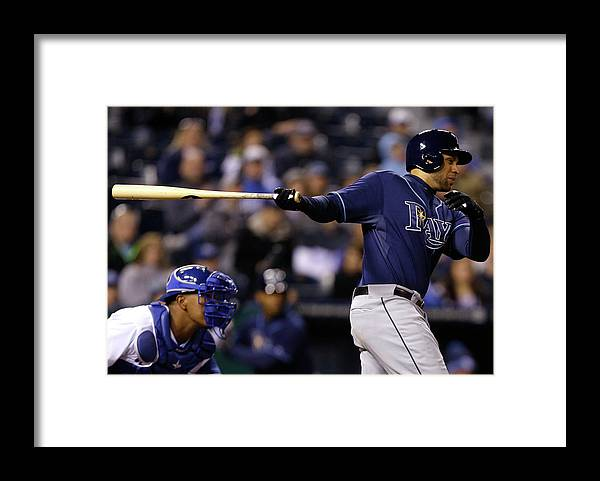 Ninth Inning Framed Print featuring the photograph James Loney by Ed Zurga