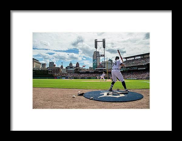 American League Baseball Framed Print featuring the photograph James Mccann by Dave Reginek