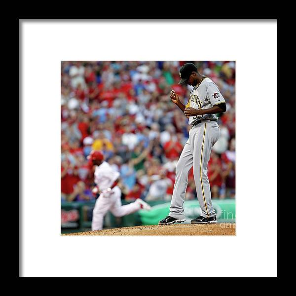 People Framed Print featuring the photograph James Mcdonald and Jimmy Rollins by Jeff Zelevansky