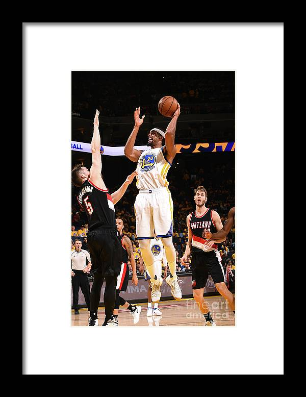 Playoffs Framed Print featuring the photograph James Michael Mcadoo by Noah Graham