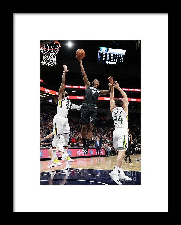 Nba Pro Basketball Framed Print featuring the photograph James Nunnally and Jae Crowder by Jordan Johnson