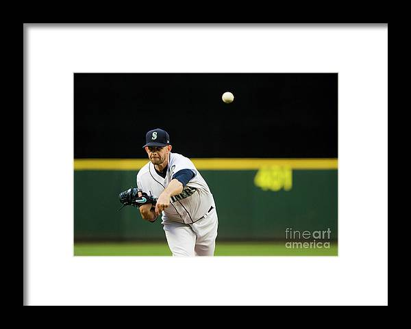 Second Inning Framed Print featuring the photograph James Paxton by Lindsey Wasson