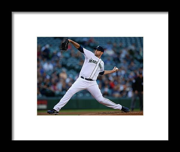 American League Baseball Framed Print featuring the photograph James Paxton by Otto Greule Jr