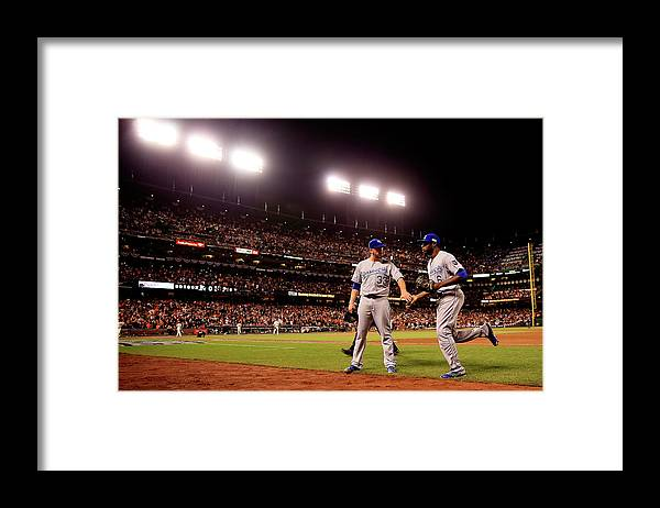 San Francisco Framed Print featuring the photograph James Shields and Lorenzo Cain by Rob Carr
