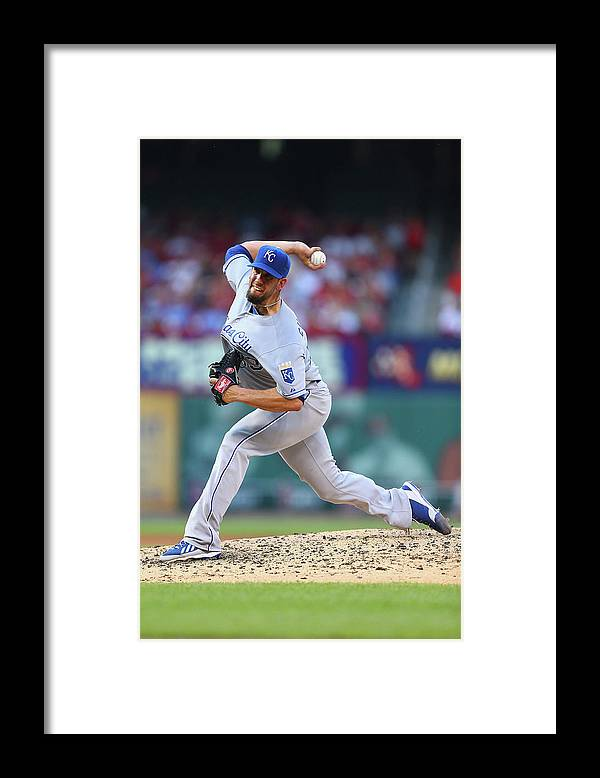 American League Baseball Framed Print featuring the photograph James Shields by Dilip Vishwanat