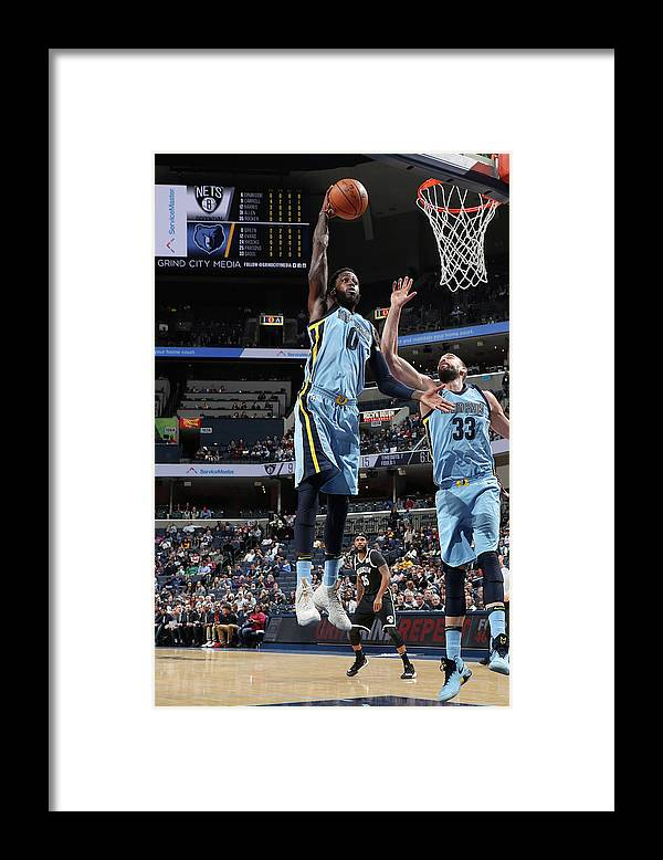 Nba Pro Basketball Framed Print featuring the photograph Jamychal Green by Joe Murphy