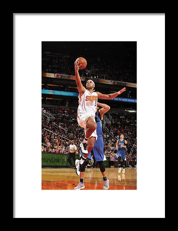 Nba Pro Basketball Framed Print featuring the photograph Jared Dudley by Barry Gossage