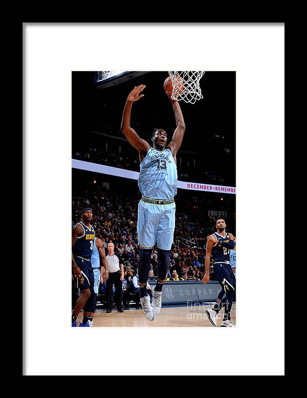 Nba Pro Basketball Framed Print featuring the photograph Jaren Jackson by Bart Young