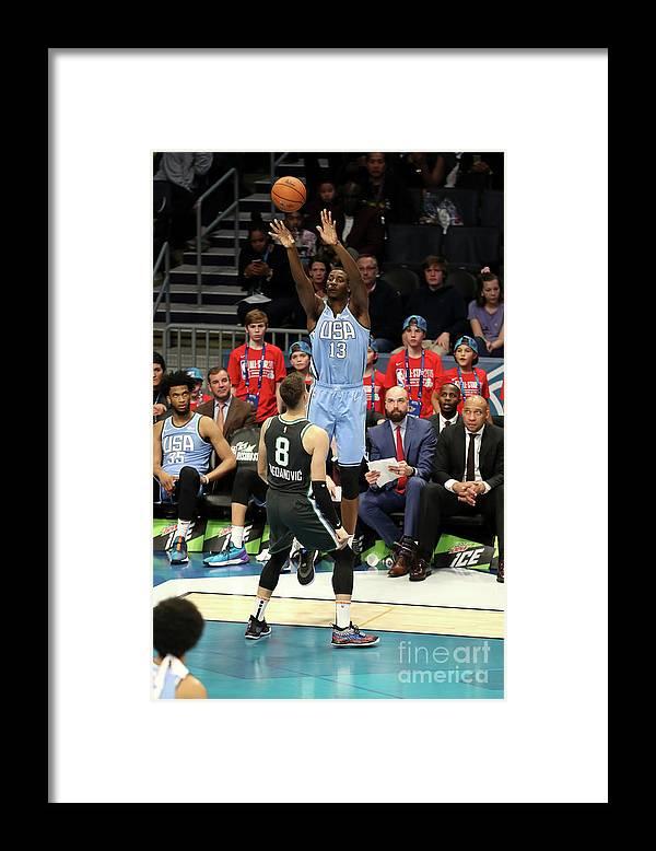 Nba Pro Basketball Framed Print featuring the photograph Jaren Jackson by Kent Smith