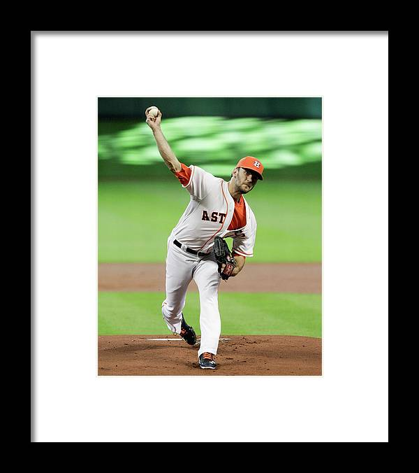 Jarred Cosart Framed Print featuring the photograph Jarred Cosart by Bob Levey