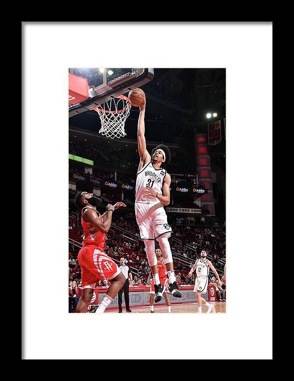 Nba Pro Basketball Framed Print featuring the photograph Jarrett Allen by Bill Baptist