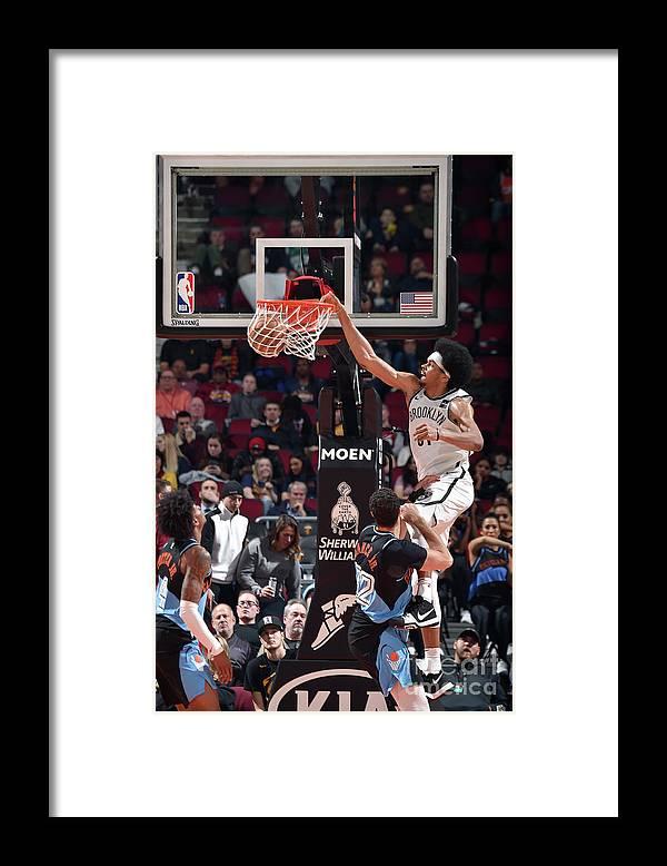 Nba Pro Basketball Framed Print featuring the photograph Jarrett Allen by David Liam Kyle
