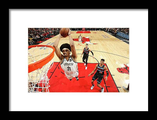 Nba Pro Basketball Framed Print featuring the photograph Jarrett Allen by Gary Dineen