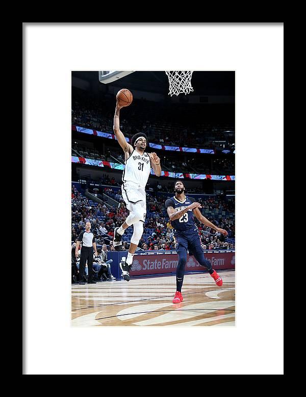 Smoothie King Center Framed Print featuring the photograph Jarrett Allen by Layne Murdoch