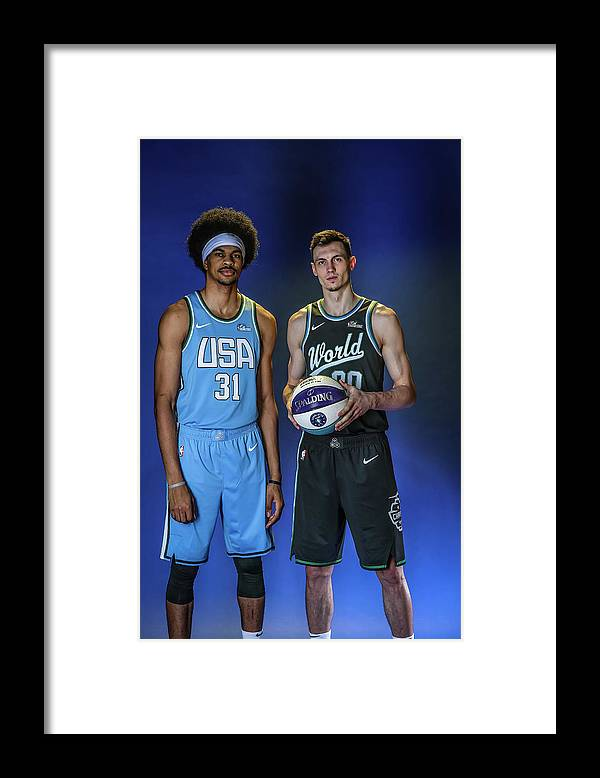 Nba Pro Basketball Framed Print featuring the photograph Jarrett Allen by Michael J. Lebrecht Ii