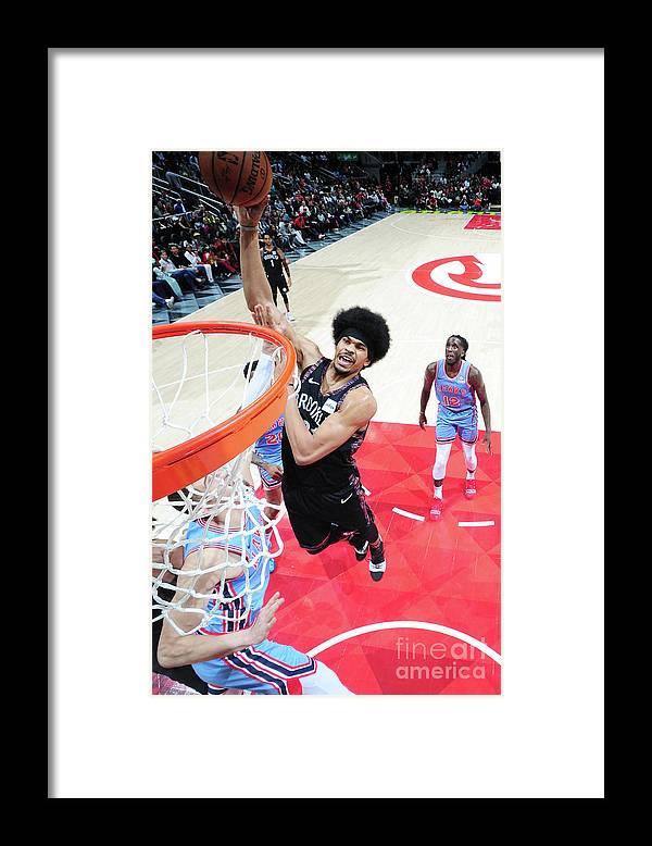 Atlanta Framed Print featuring the photograph Jarrett Allen by Scott Cunningham