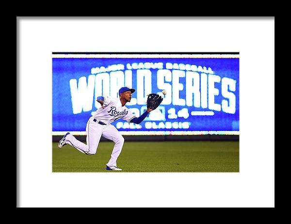 Game Two Framed Print featuring the photograph Jarrod Dyson by Dilip Vishwanat
