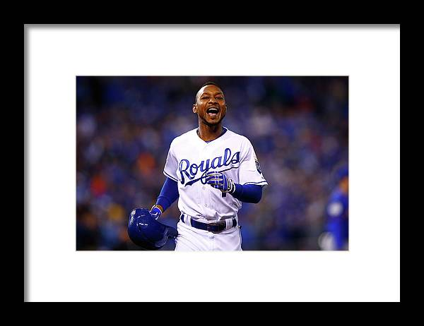 Three Quarter Length Framed Print featuring the photograph Jarrod Dyson by Jamie Squire