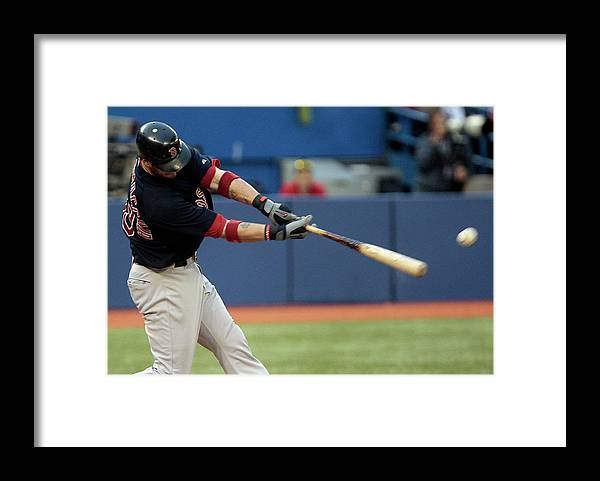 American League Baseball Framed Print featuring the photograph Jarrod Saltalamacchia by Abelimages