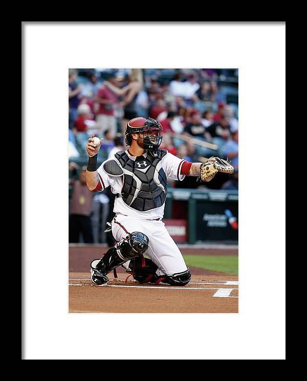 Baseball Catcher Framed Print featuring the photograph Jarrod Saltalamacchia by Christian Petersen