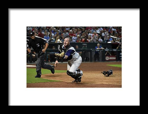 People Framed Print featuring the photograph Jarrod Saltalamacchia by Norm Hall